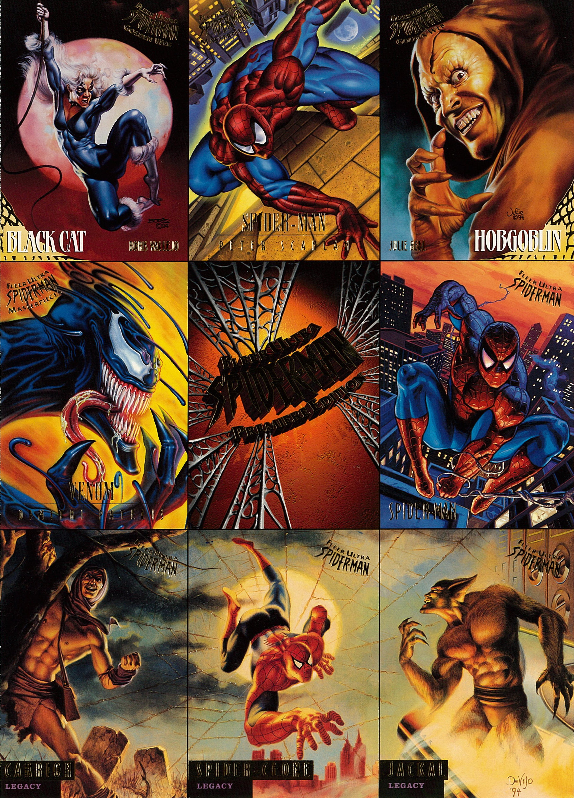Fleer Ultra Spider-Man Uncut Promo Sheets Were Sent Free to Retailers Prior to Order Deadlines.